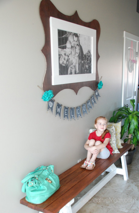 Attractive DIY Jumbo Picture Frame - The Creative Mom IY16