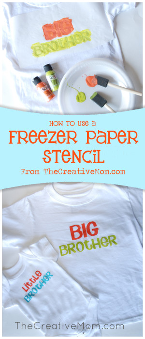How to use a Freezer Paper Stencil - The Creative Mom