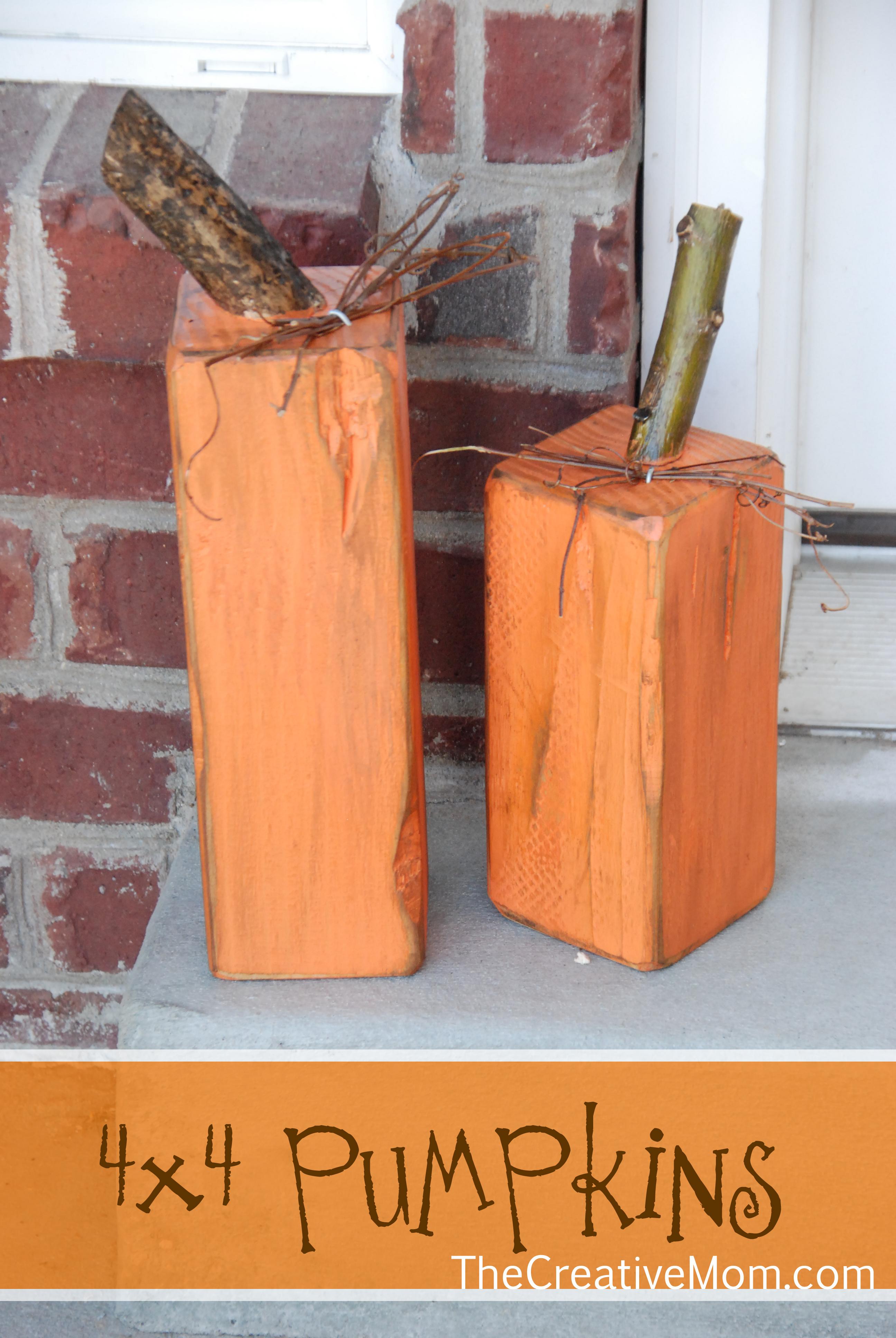 Scrap Wood Pumpkins
