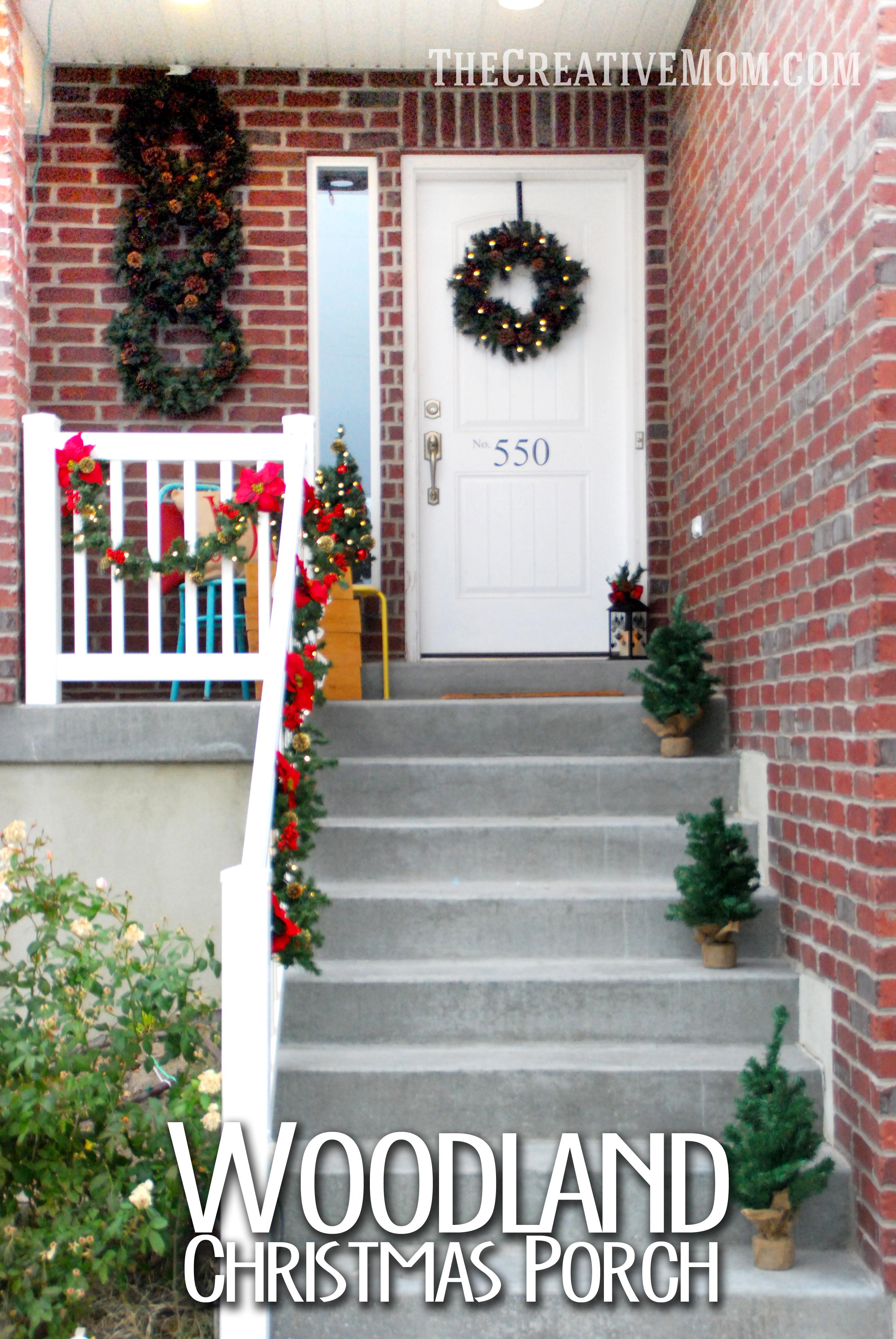 Woodland Christmas Porch