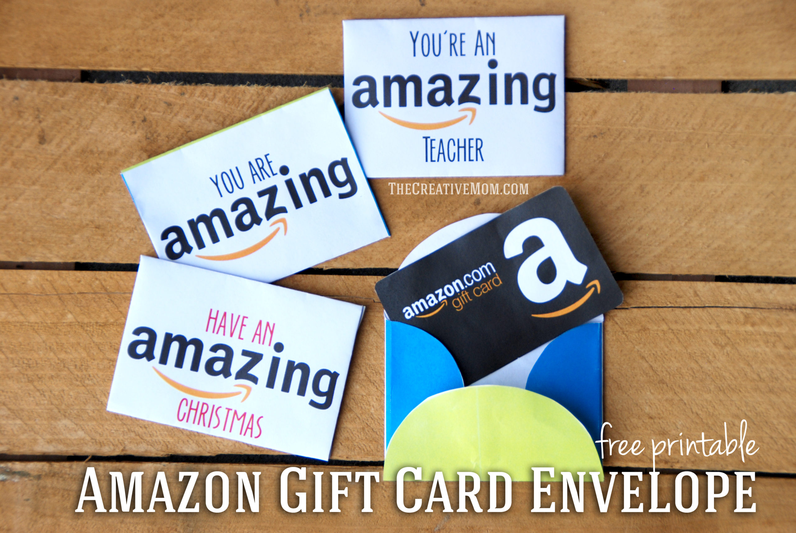 Amazon Gift Card Envelopes (free printable download)