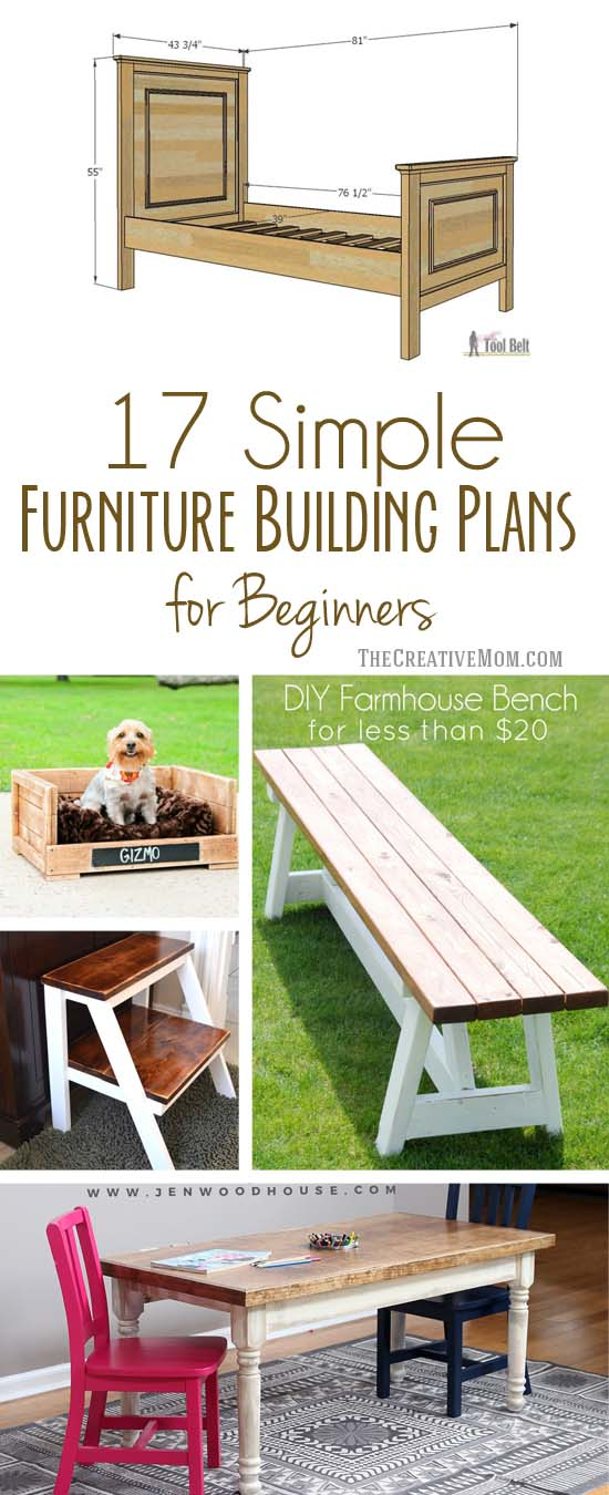17 simple furniture building plans for beginners - the creative mom
