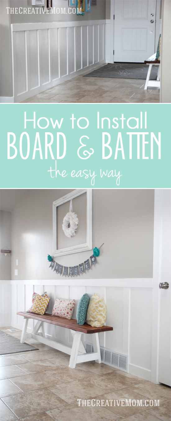 how to install board and batten the easy way