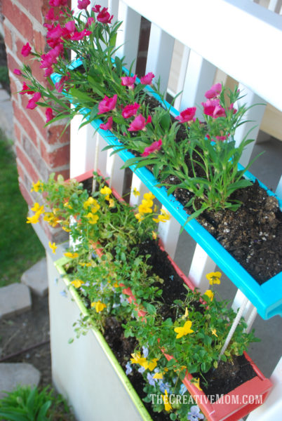 Hanging Gutter Planter The Creative Mom