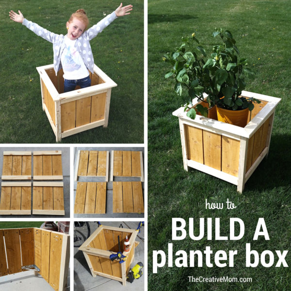 collage diy planter box