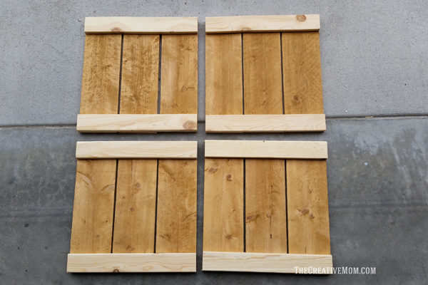 set of four wood squares for planter box