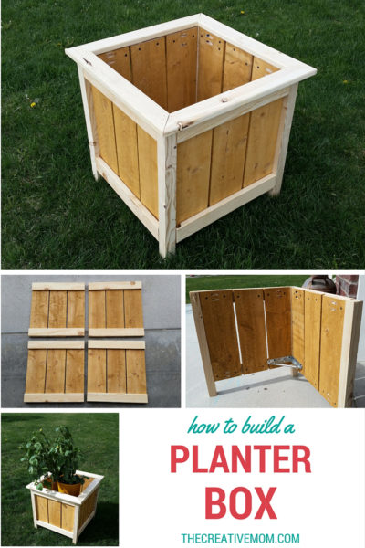 How To Build A Planter Box The Creative Mom