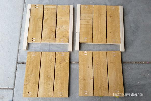 diy planter box wood squares