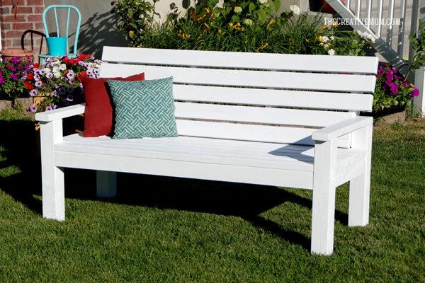 Garden Bench Designs Diy: DIY Sturdy Garden Bench- Free Building Plans