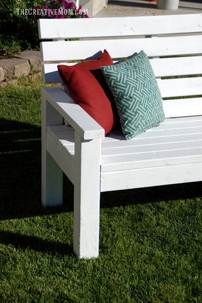 Diy Sturdy Garden Bench Free Building Plans The Creative Mom