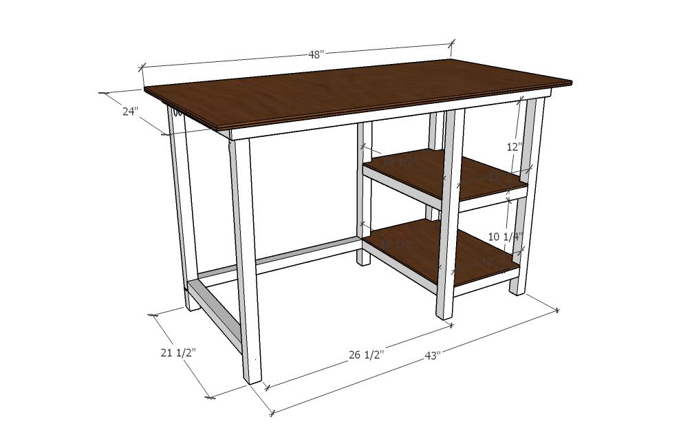 how to build a desk plans