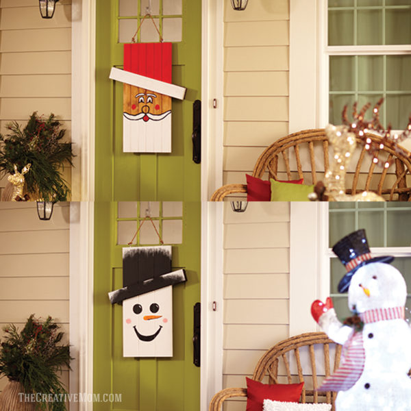 reversible holiday door hanger