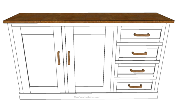 Buffet cabinet free building plans the creative mom for Cabinet planner free