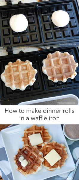 dinner rolls waffle iron