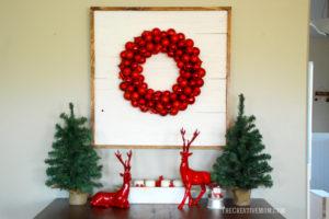 How to Make a SHIPLAP Wreath Display