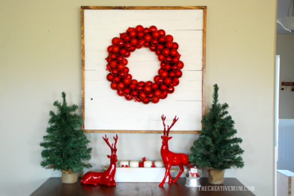 shiplap wreath display