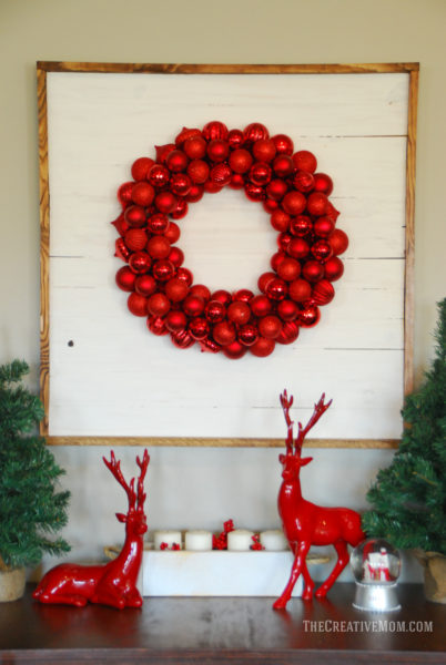 ornament wreath display