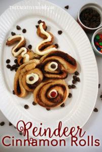 Reindeer Cinnamon Rolls