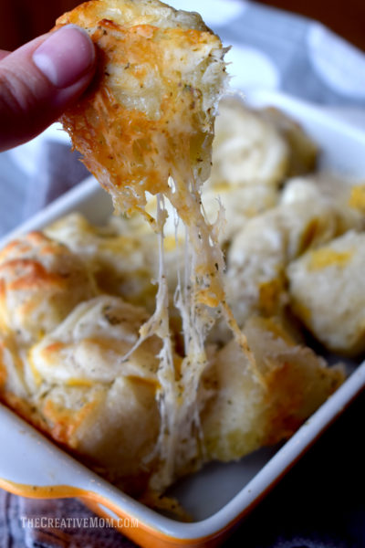 cheesy garlic bread bites