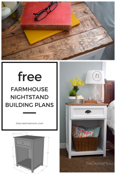 farmhouse nightstand building plans