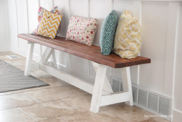 diy 2x4 bench farmhouse