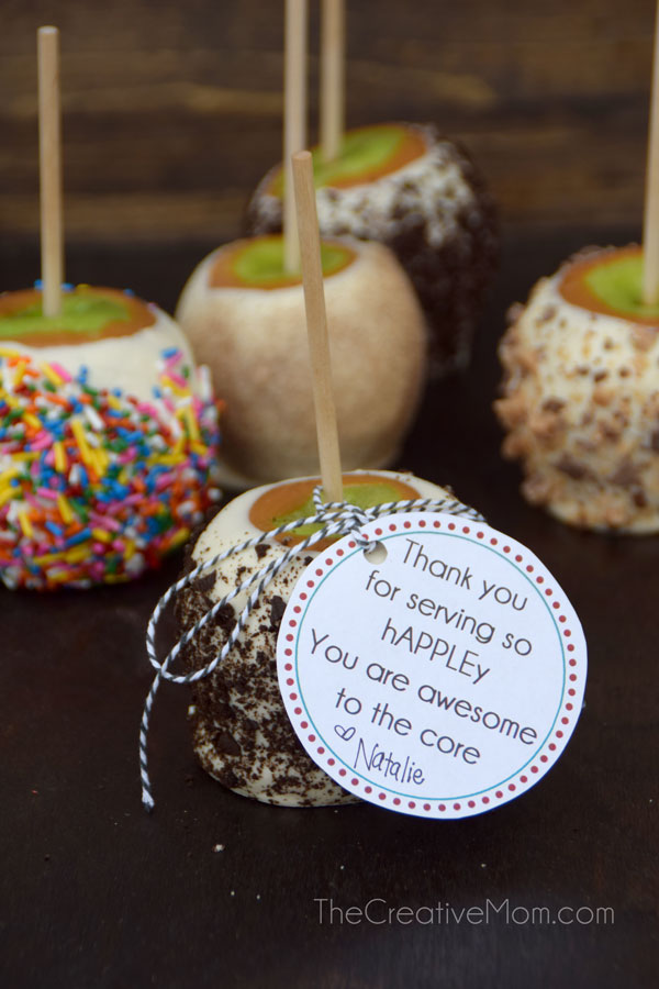 How to make candy apples (and a free gift tag!)