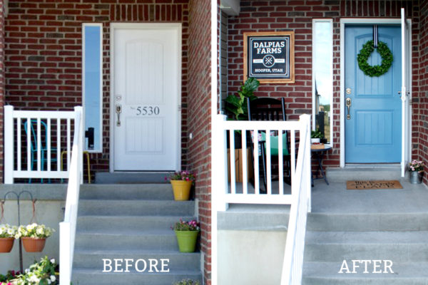 How To Paint Your Front Door And Add Curb Appeal The Creative Mom