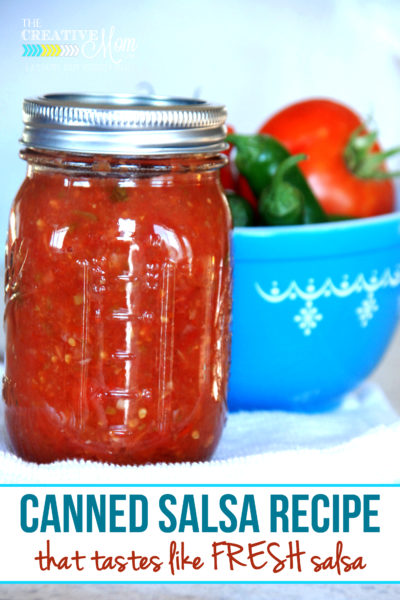 Canned Salsa Recipe that Tastes Like FRESH Salsa