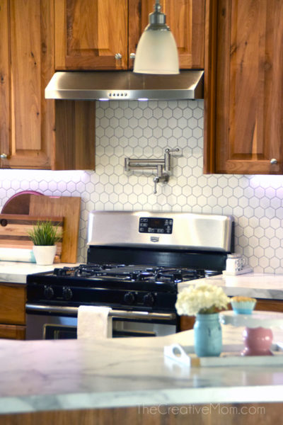 Kitchen renovation REVEAL- how to lay backsplash tile