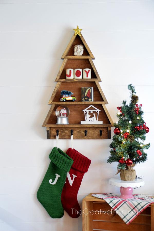 How to Make a DIY Christmas Tree Shelf