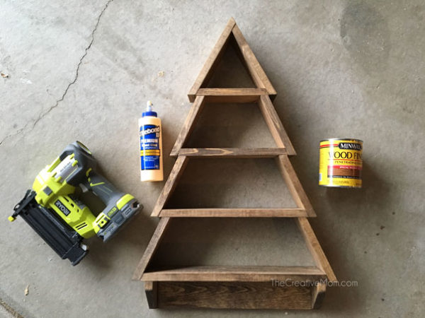 How to Make a Christmas Tree Shelf