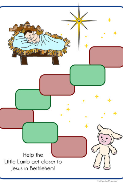 Little Lamb from Bethlehem Game- free printable download