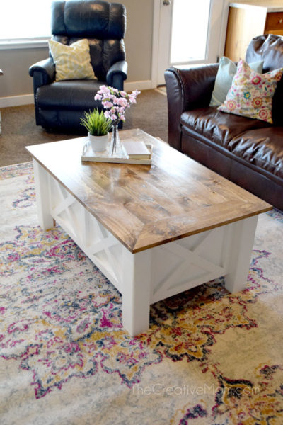 How To Build A Farmhouse Coffee Table With Storage Free Building