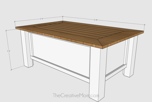 Coffee Table Plans.How To Build A Farmhouse Coffee Table With Storage Free Building