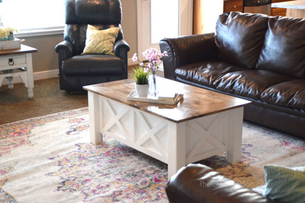 How To Build A Farmhouse Coffee Table With Storage Free