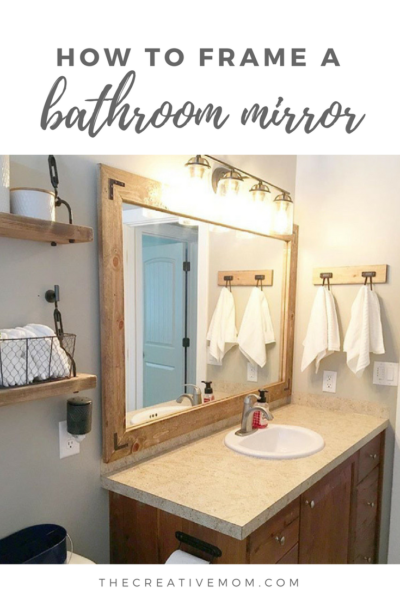 how to frame my bathroom mirror how to frame a bathroom mirror the creative 25398