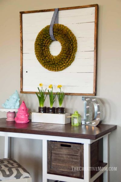 wreath display frame