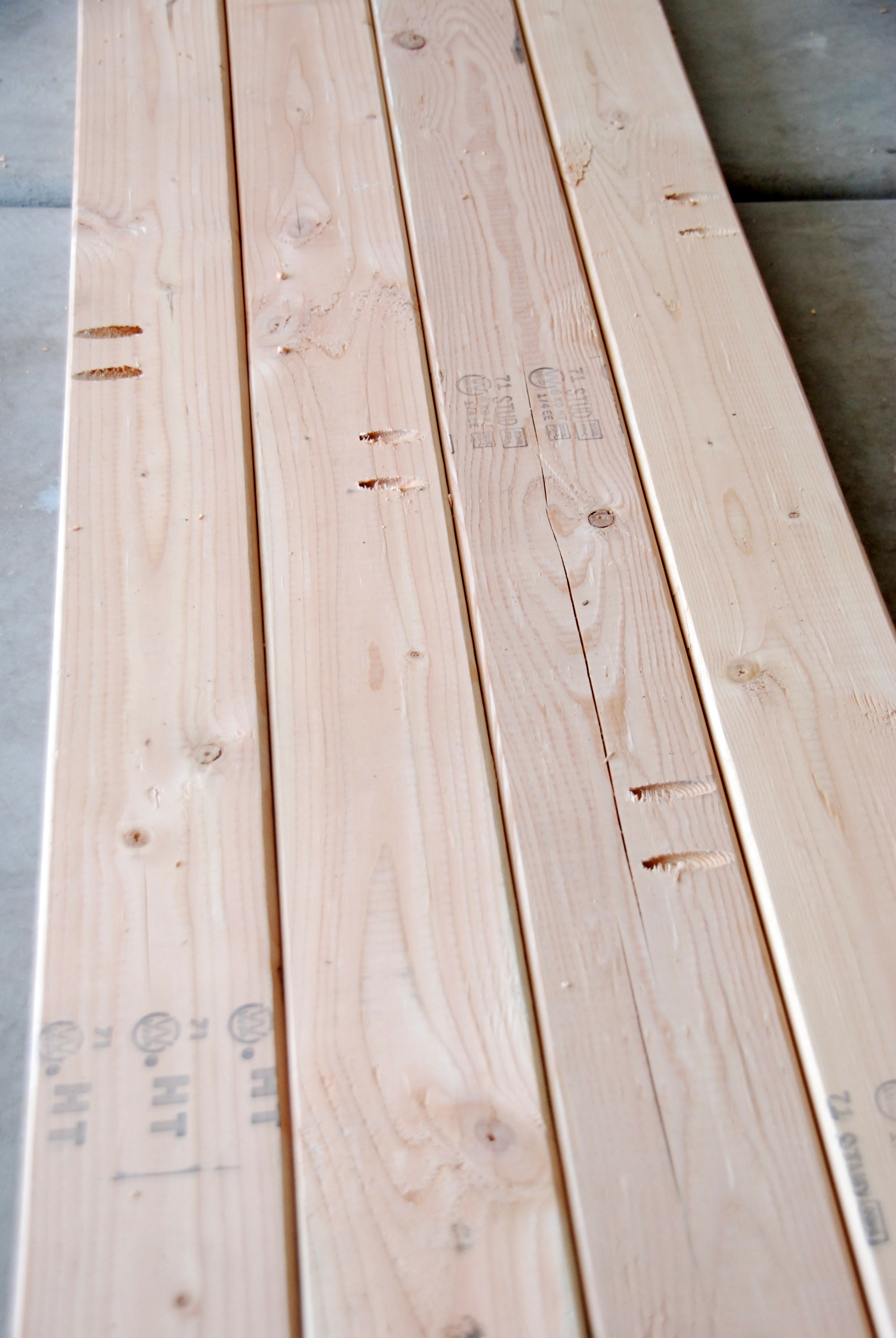 planked bench seat