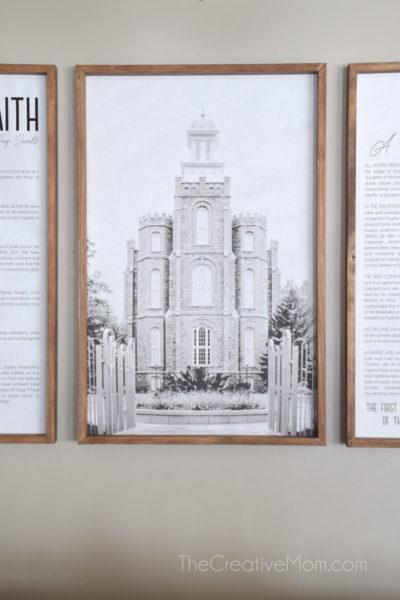 Modern Logan Temple Print
