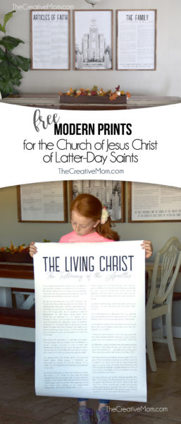 modern LDS free printable prints