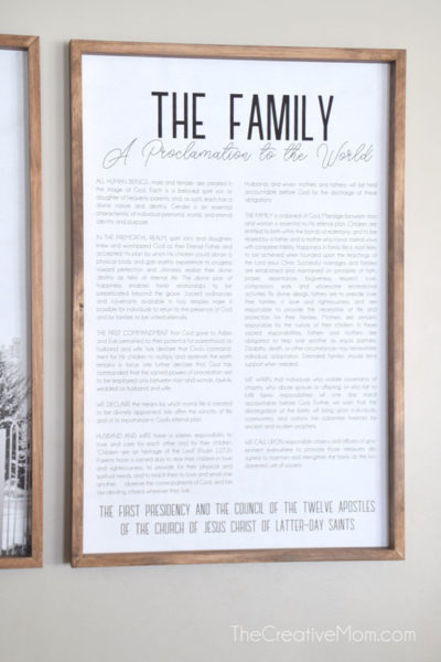 The Family Proclamation Modern Free print