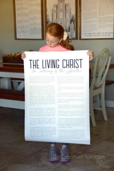 The Living Christ Free Modern Print