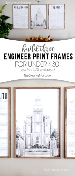 DIY engineer print frame