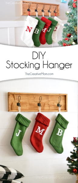 DIY Farmhouse stocking hanger