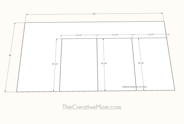 frame backing cut sheet