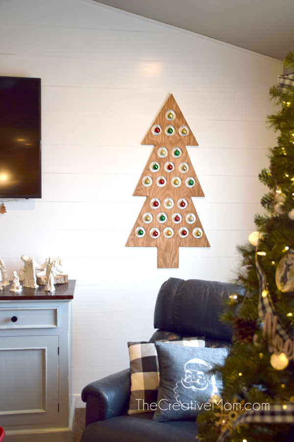 wooden christmas tree advent