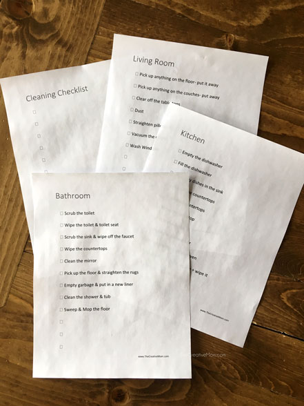 House Cleaning Schedule and Cleaning Checklists (free printables)