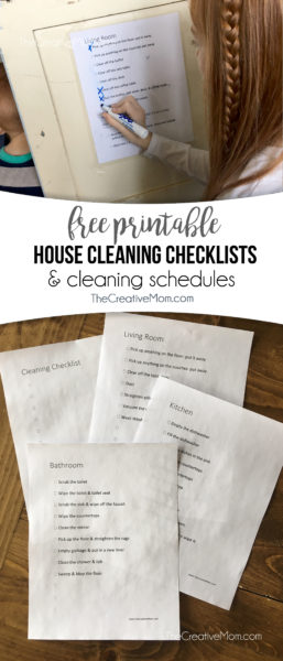 house cleaning checklists and schedules