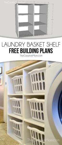 laundry basket shelf free building plans