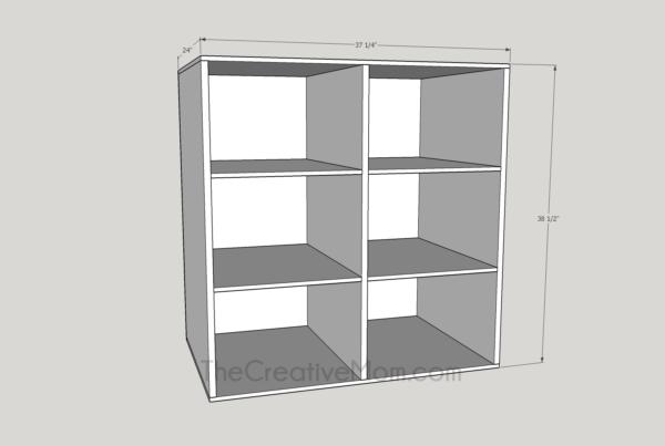 book shelf or laundry shelf plans